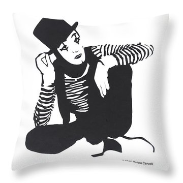 The Mime Throw Pillow