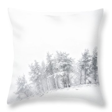 The Minimal Forest Throw Pillow