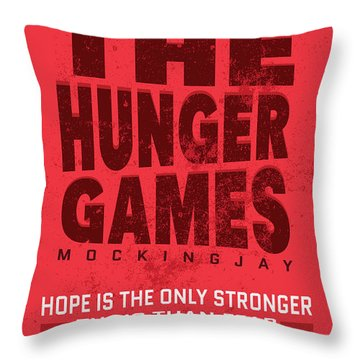 The Minimalist Movie Poster - The Hunger Games - Mockingjay Movie Throw Pillow