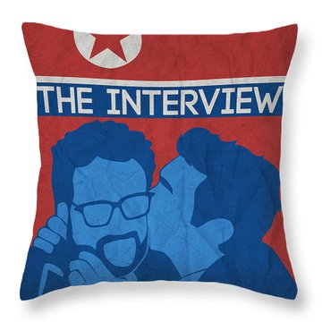 The Minimalist Movie Poster- The Interview Throw Pillow