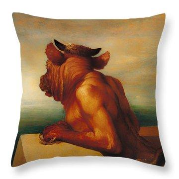 The Minotaur  Throw Pillow by Mountain Dreams