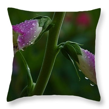 The Miracles Of Nature Throw Pillow by Nicola Fiscarelli