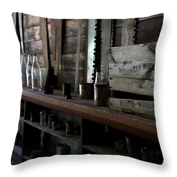 The Mishawaka Woolen Bar Throw Pillow by Lorraine Devon Wilke