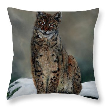 The Missing Lynx Throw Pillow