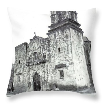 The Mission Throw Pillow by Barry Jones