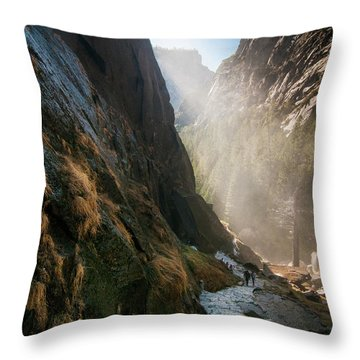 The Mist Trail Throw Pillow
