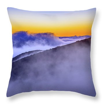 The Mists Of Cloudfall Throw Pillow