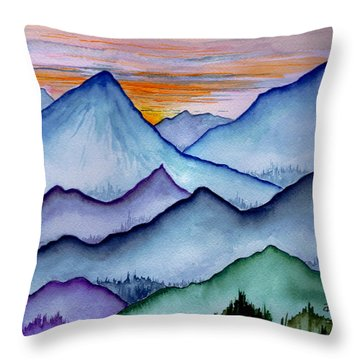 The Misty Mountains Throw Pillow