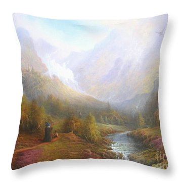 The Misty Mountains Throw Pillow by Joe  Gilronan