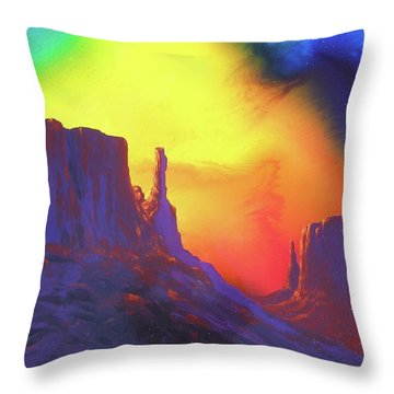 Throw Pillow featuring the painting The Mittens , Psalm 19 by Alan Johnson