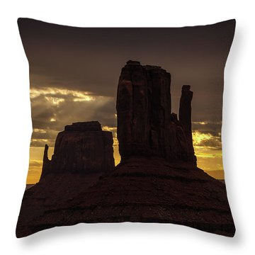 The Mittens Sunrise Throw Pillow