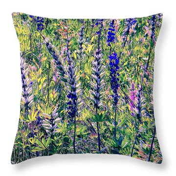 Throw Pillow featuring the photograph The Mix by Elfriede Fulda