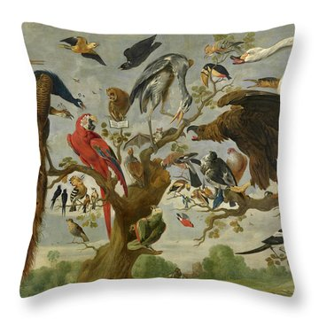 The Mockery Of The Owl Throw Pillow