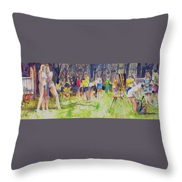 The Models  Throw Pillow