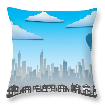 The Modern City Throw Pillow by Anthony Citro