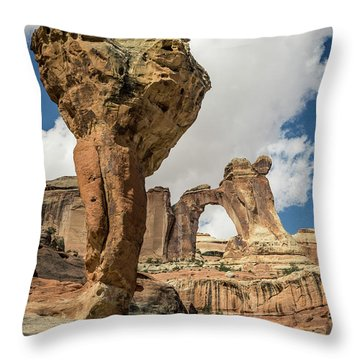 The Molar And Angel Arch Throw Pillow