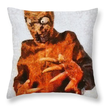 The Mole People, Vintage Sci-fi Throw Pillow