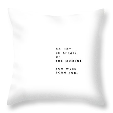The Moment. Throw Pillow