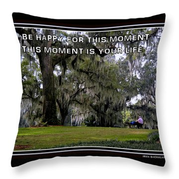 The Moment Throw Pillow by Irma BACKELANT GALLERIES