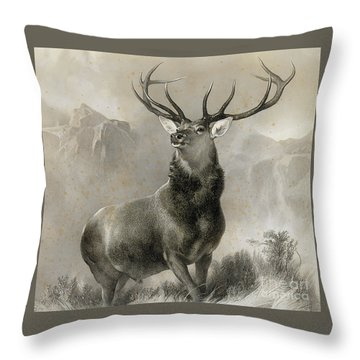 The Monarch Of The Glen, 1852 Throw Pillow