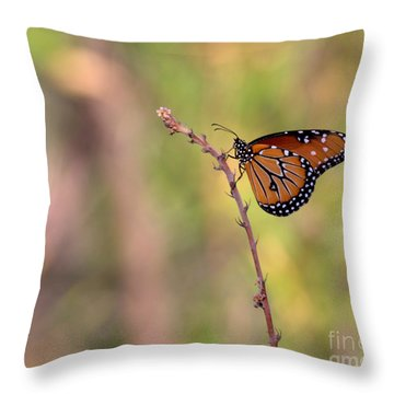 The Monarch Poses Throw Pillow