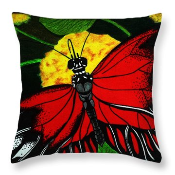 The Monarch Throw Pillow by Ramneek Narang