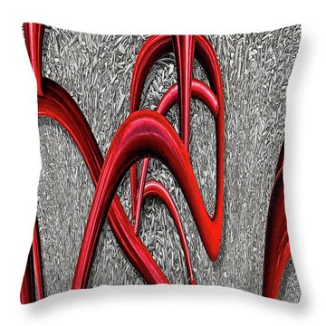 The Monday Lipstick Caper Throw Pillow