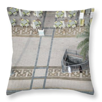 Throw Pillow featuring the photograph The Money Is Here But Where Are All The People Besides These Two by Marie Neder