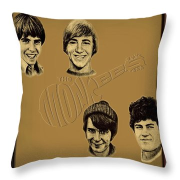 The Monkees  Throw Pillow by Movie Poster Prints