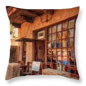 The Monk's Vineyard Throw Pillow