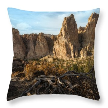 The Monument At Smith Rock Throw Pillow