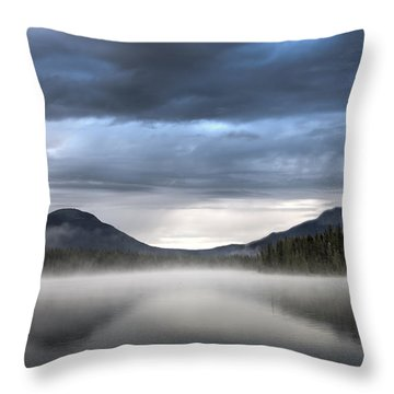 The Moods Of Fish Lake Throw Pillow