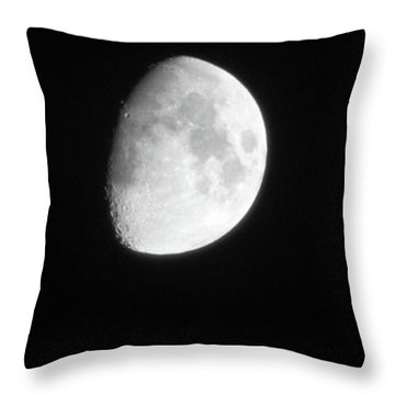 Throw Pillow featuring the photograph The Moon And Jupiter by Mark Dodd