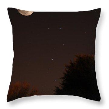 The Moon And Ursa Major Throw Pillow