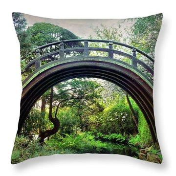 The Moon Bridge Throw Pillow