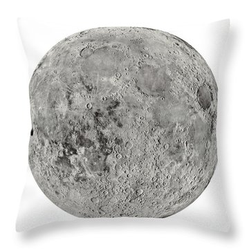 The Moon By The Us Geological Survey - 1960s Throw Pillow