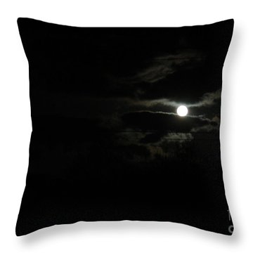 The Moon In Between Throw Pillow by Marie Neder