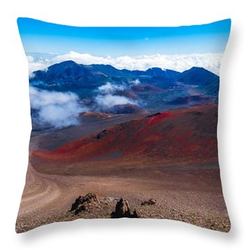 The Moon On Earth Throw Pillow