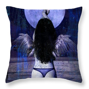 The Moon Throw Pillow by Tammy Wetzel