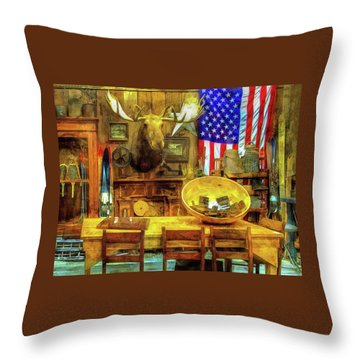 Throw Pillow featuring the photograph The Moose by Thom Zehrfeld