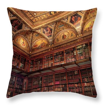 Throw Pillow featuring the photograph The Morgan Library by Jessica Jenney