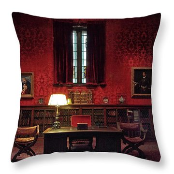 Throw Pillow featuring the photograph The Morgan Library Study by Jessica Jenney