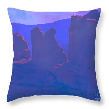 The Morners Throw Pillow by Annie Gibbons