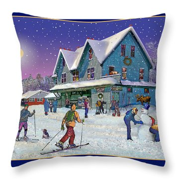 The Morning After At Campton New Hampshire Throw Pillow by Nancy Griswold