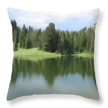 The Morning Calm Throw Pillow