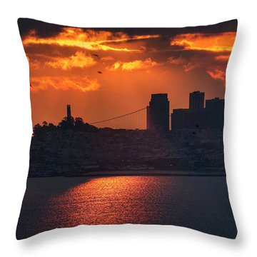The Morning Fog May Chill The Air, I Don't Care Throw Pillow