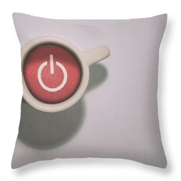 The Morning Power Up Throw Pillow