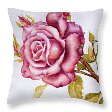The Morning Rose Throw Pillow