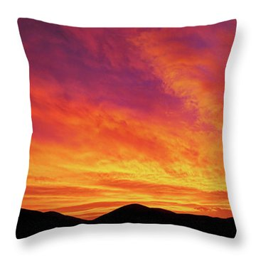 The Morning Sky Ablaze Throw Pillow