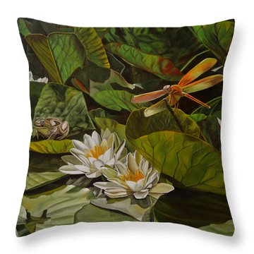 The Morning Symphony Throw Pillow
